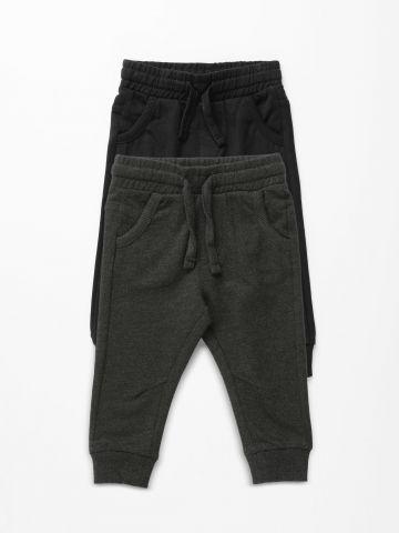 מארז 2 מכנסי טרנינג ארוכים / 3M-3Y