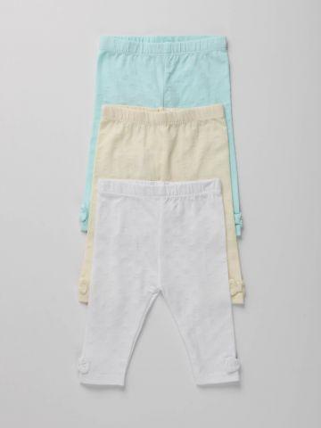מארז 3 מכנסיים ארוכים נקודות גליטר / N.B-2Y