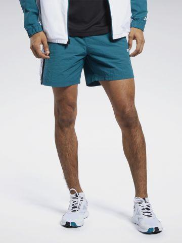 מכנסיים קצרים עם סטריפים לוגו