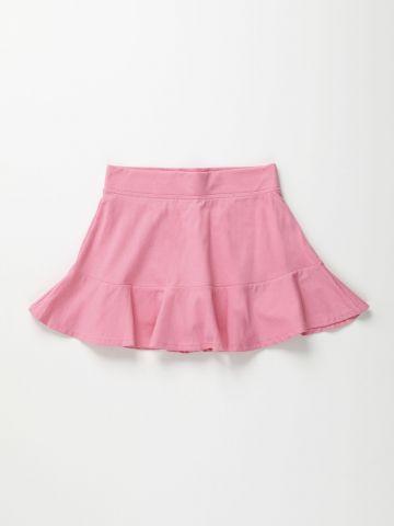 מכנס חצאית מיני פפלום / בנות