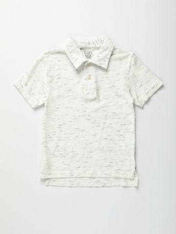 חולצת פולו מלאנז' / בנים