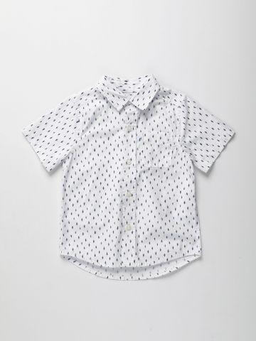 חולצה מכופתרת בהדפס מעויינים / בנים