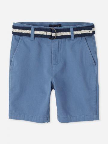 מכנסי ברמודה עם חגורה / בנים