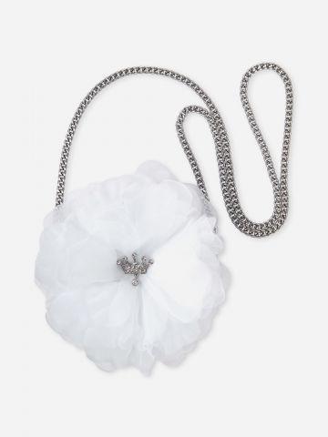 תיק צד בדוגמת פרח / בנות