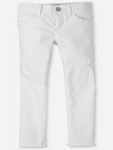 ג'ינס ארוך עם סיומת גזורה / בנות