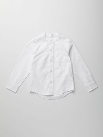 חולצה מכופתרת עם כיס / ילדים