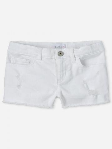 ג'ינס קצר עם קרעים / בנות של THE CHILDREN'S PLACE