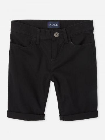 מכנסי ג'ינס קצרים עם כיסים / בנות