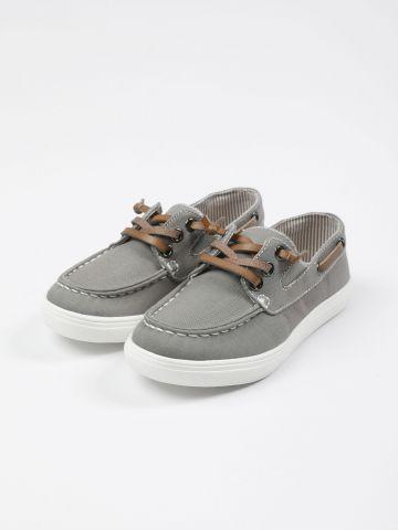 נעלי מוקסינים עם גומי / בנים