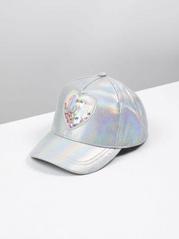 כובע מצחייה הולוגרפי במילוי פאייטים / בנות