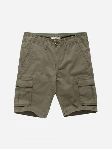 מכנסי ברמודה קצרים עם כיסים / בנים