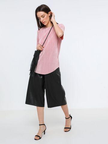 חולצת פליסה עם פתח בגב