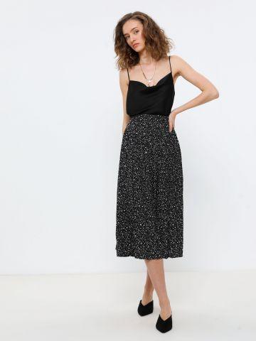 חצאית פליסה בהדפס חברבורות