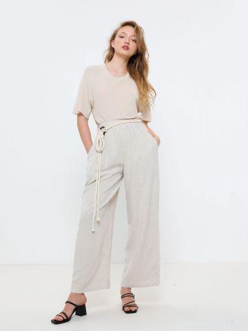 מכנסיים רחבים עם חגורת חבל של YANGA