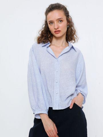 חולצת משבצות מכופתרת
