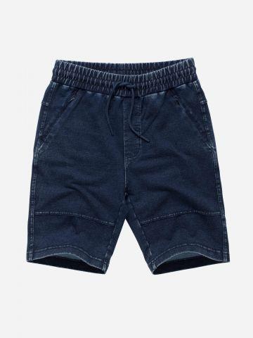 מכנסי ברמודה דמוי ג'ינס / בנים
