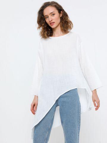 חולצת אוברסייז אסימטרית