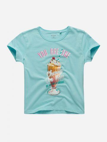 טי שירט עם הדפס גלידה / בנות
