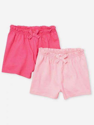 מארז 2 מכנסיים קצרים עם מלמלה / 0-18M