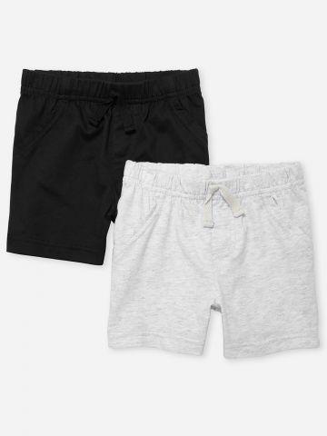 מארז 2 מכנסיים קצרים בצבעים שונים / 0-24M