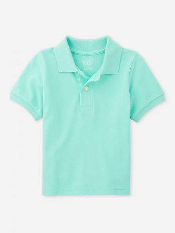 חולצת פולו קלאסית חלקה / 6M-5Y
