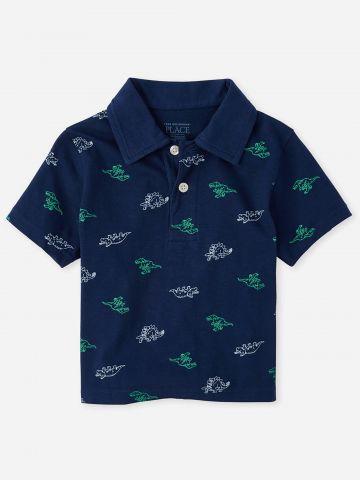 חולצת פולו בהדפס תנינים / 6M-5Y