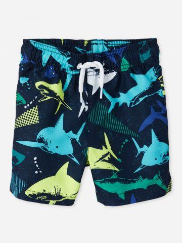 בגד ים בהדפס כרישים / 6M-5Y