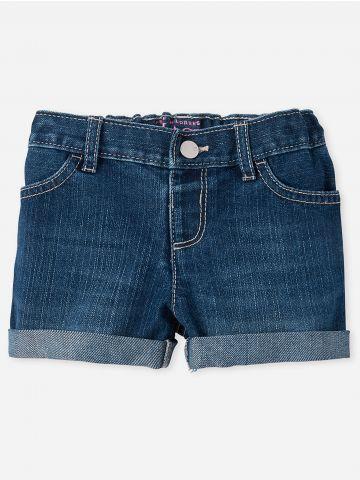 ג'ינס קצר בשטיפה כהה / 9M-4Y