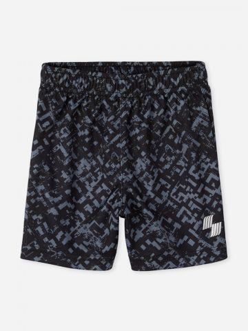 מכנסי ספורט קצרים בהדפס / 9M-4Y
