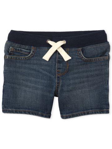 ג'ינס קצר עם גומי / 9M-4Y