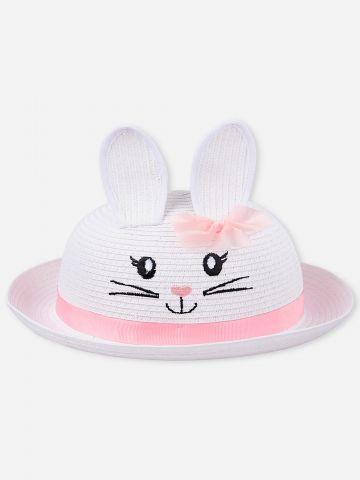 כובע קש בדוגמת ארנב / בייבי