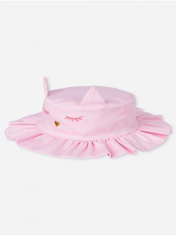 כובע באקט בדוגמת חתול / בייבי