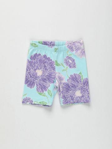 מכנסי טייץ קצרים בהדפס פרחים / 9M-4Y