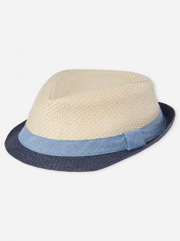 כובע קש צר שוליים / בייב בנים