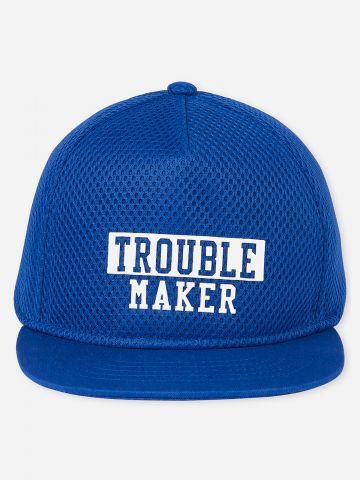 כובע מצחייה עם הדפס כיתוב / בייבי