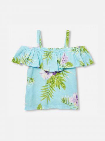 חולצת קולד שולדרס בהדפס פרחים / 9M-4Y