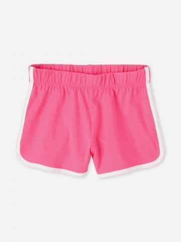מכנסיים קצרים עם שוליים מודגשים / בנות