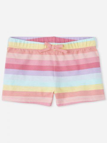 מכנסיים קצרים בהדפס פסים / בנות של THE CHILDREN'S PLACE