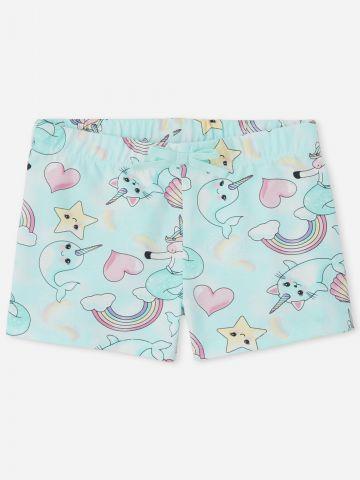 מכנסיים קצרים בהדפס יוניקורן / בנות של THE CHILDREN'S PLACE
