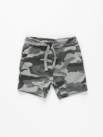 מכנסי טרנינג קצרים קמופלאז' / 6M-5Y