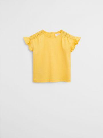 חולצה עם עיטורי מלמלה וחירורים \ 9M-4Y