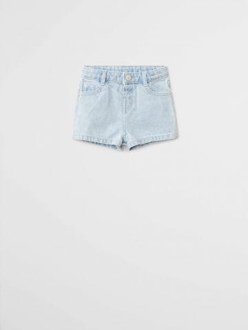 ג'ינס קצר בגזרה ישרה \ 9M-4Y
