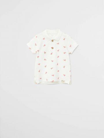 חולצת פולו בהדפס סרטנים \ 9M-4Y