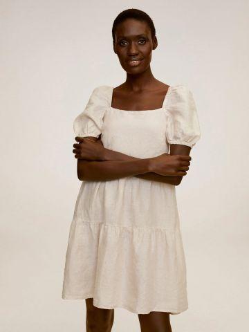 שמלת פשתן בסגנון קומות של MANGO