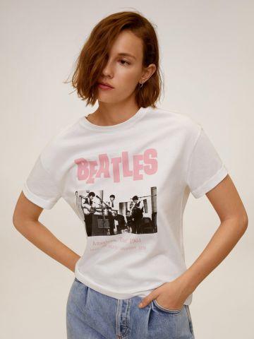 טי שירט עם הדפס Beatles של MANGO