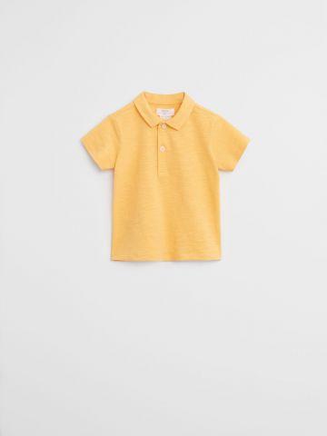 חולצת פולו קלאסית חלקה / 9M-4Y