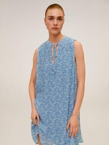 שמלת מיני מתרחבת בהדפס פרחים