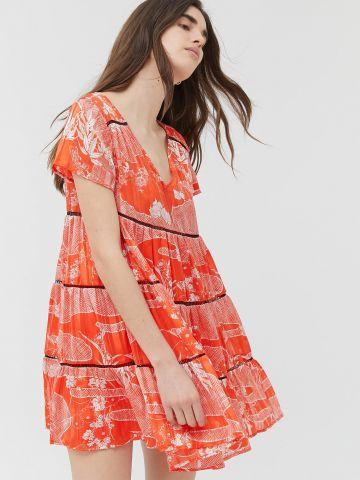שמלת מיני קומות שיפון UO