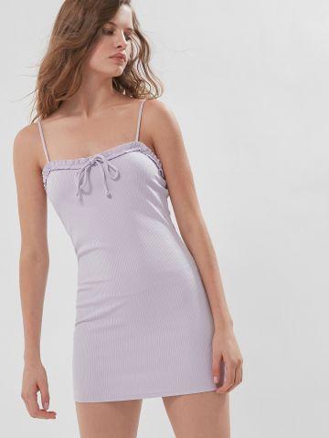שמלת מיני ריב עם מלמלה UO