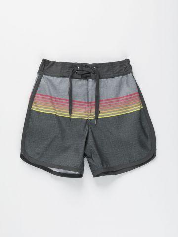 מכנסי גלישה עם הדפס פסים / בנים